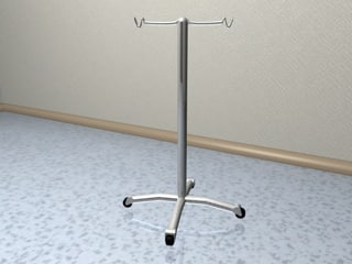 3d model iv stand