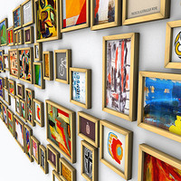 61 little art paintings 3d model