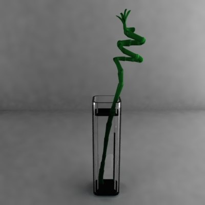 bamboo lucky vase 3d dxf