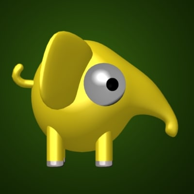 3d elephant cartoon