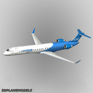 bombardier crj-705 house colours 3d model