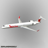 bombardier crj-705 air 3d model