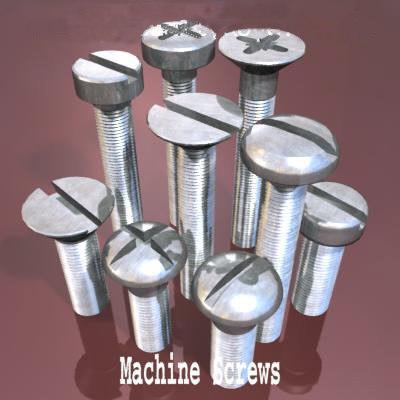 3d model machine screws