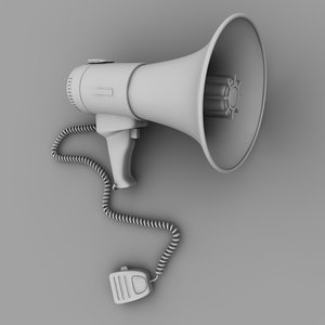 3d megaphone mega phone