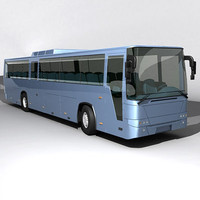 3d model of generic coach intercity
