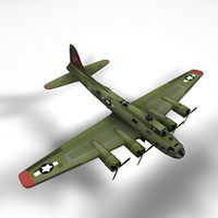 b-17 bomber c4d