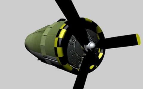 prop engine 3d c4d