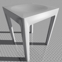 3d model of stool designed starck