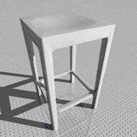 stool designed starck 3d model