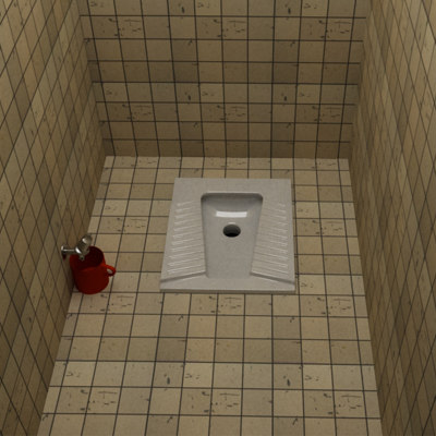 3d model ottoman style wc