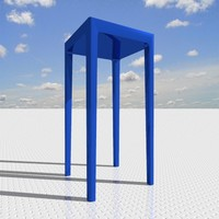 3d table designed starck model