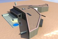 3d model modern sea ranch house