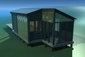 lwo rustic home glass cabin