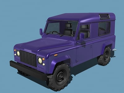 3d defender offroad model