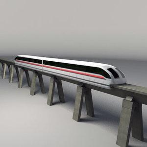 mono rail 3d model