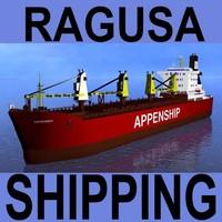 3d bulk carrier vessel ship model