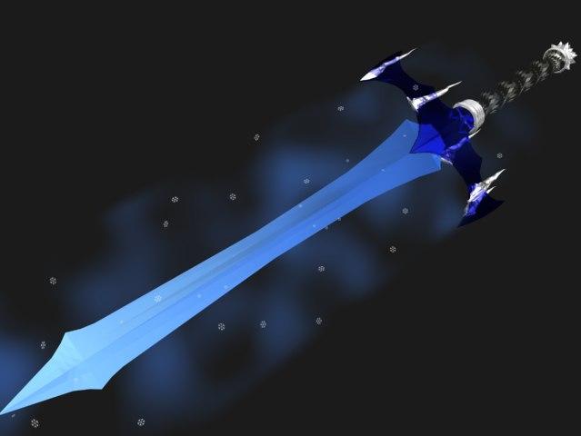 elemental sword ice 3d model