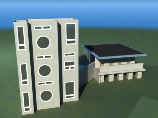 lightwave modern house