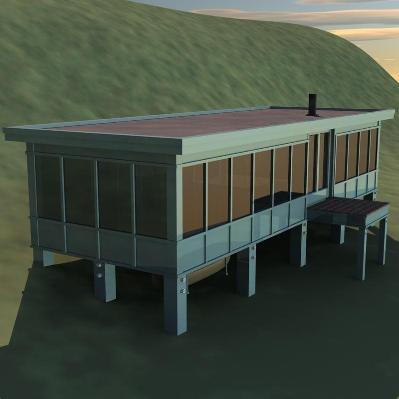 canoe house 3d model