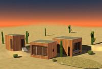 3ds max nomade desert house