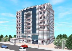 free hospital office building 3d model