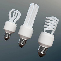 Fluorescent bulbs set