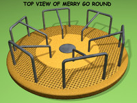 3d model playground merry-go-round