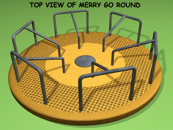 3d model playground merry-go-round