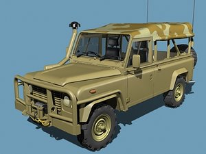 defender military jeep 3ds