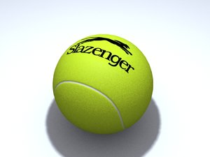 free slazenger tennis ball 3d model
