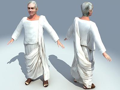 3d roman character model