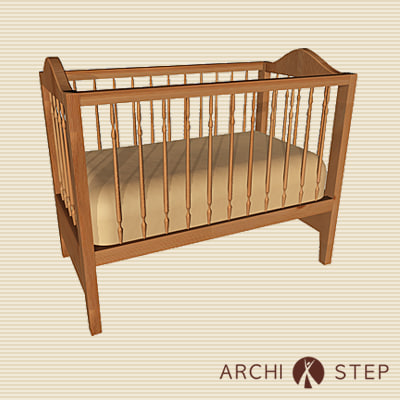 3d model of child s bed