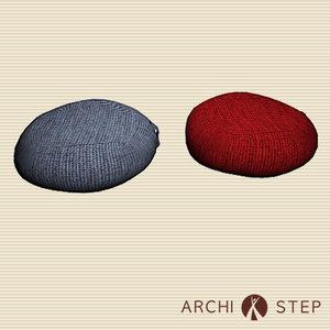 3d model cushions
