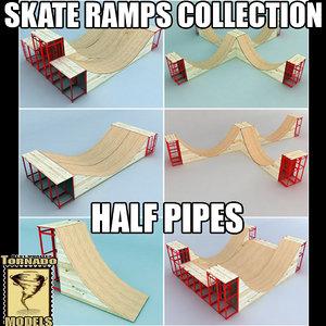 3ds max skate ramps - half