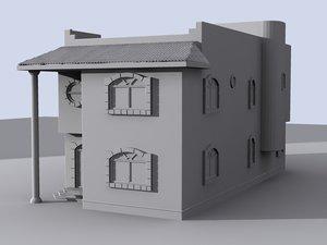 villa house 3d 3ds