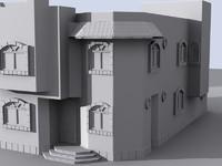 3d villa house model