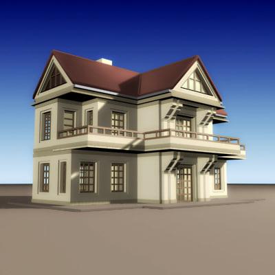 house build villa 3ds