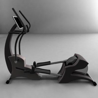 3d model elliptical cardio