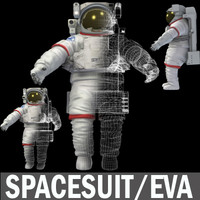 3d model spacesuit space