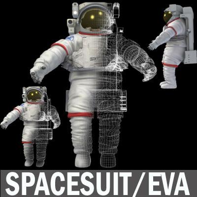 3d model spacesuit space