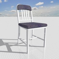 navy chair 3ds