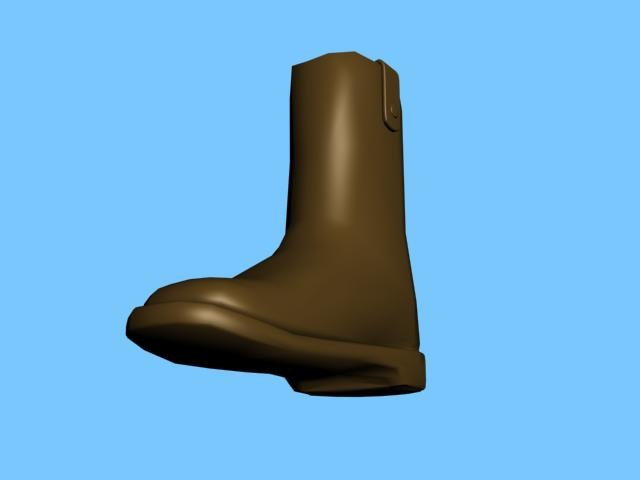 free leather boots 3d model