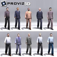 3D People: Walking 3D Business Men Vol. 01