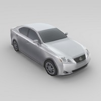 3d car lexus is250 model