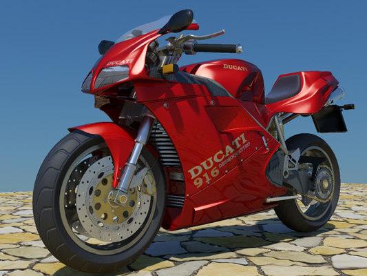 ducati 916 3d model