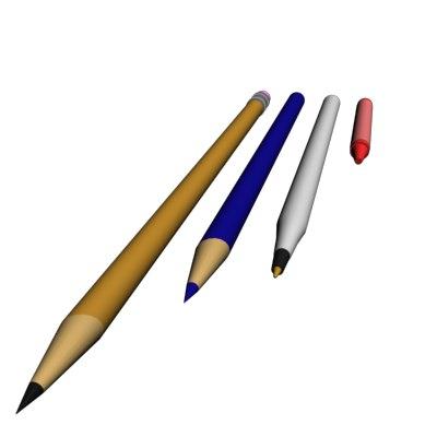 pencil ed 3d model
