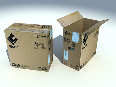 cardbox realtime polygons 3d model