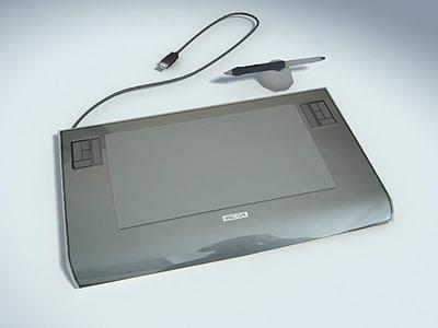 wacom tablet 3d model
