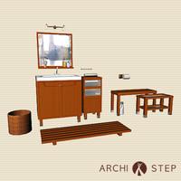 wc furniture c4d