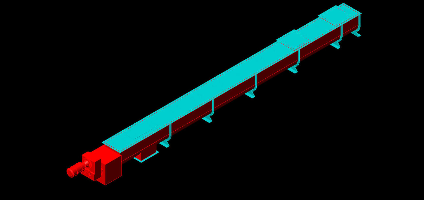 screw conveyor industrial 3d model